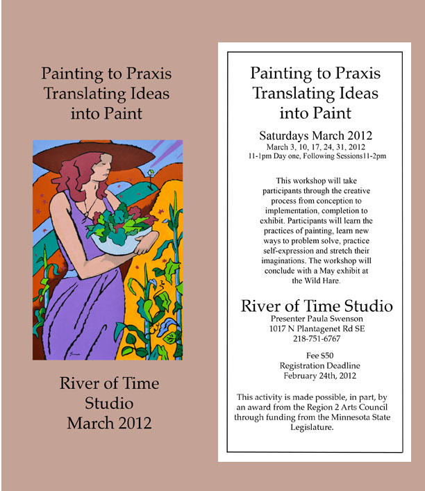 Painting to Praxis Workshop this March, with Local Artist, Paula