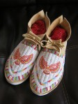 AAI Grant Recipients Dennis Williams and Dana Goodwin, beaded moccasins.